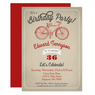 Bici para hombre del vintage de los muchachos de invitación 12,7 x 17,8 cm