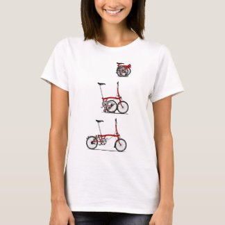 Bici plegable camiseta