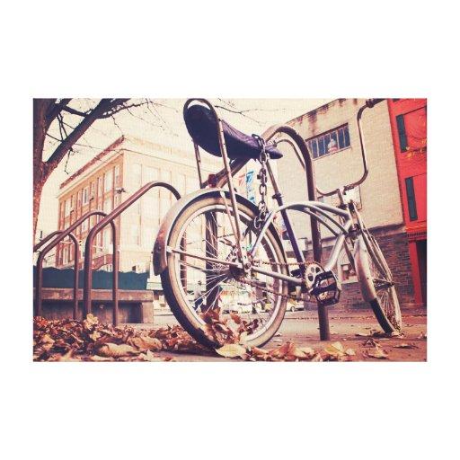 Bici retra impresión en lona