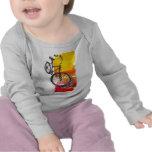 Bici roja colorida camiseta