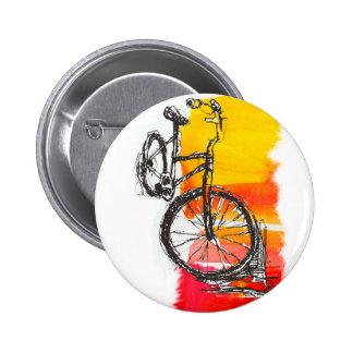 Bici roja colorida pins