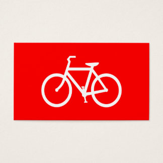 Bici roja y blanca tarjeta de negocios