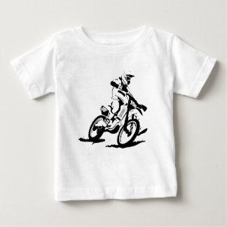 Bici y jinete simples de Motorcross Camiseta De Bebé
