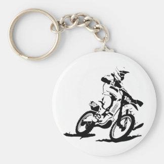 Bici y jinete simples de Motorcross Llavero