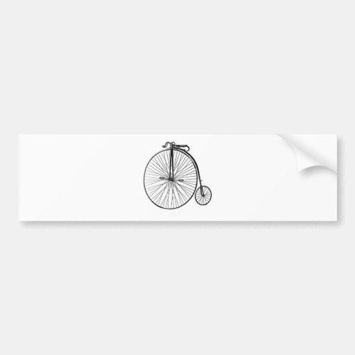 Bicicleta antigua del comino del penique pegatina de parachoque