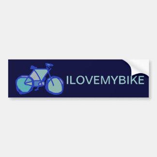 bicicleta azul pegatina de parachoque