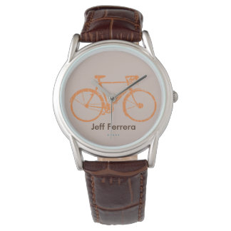 bicicleta. Bici personalizada con nombre Relojes