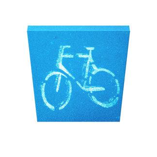 Bicicleta blanca azul, lona impresion en lona