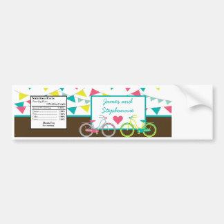 Bicicleta Carni de las bicis de los amantes del am Pegatina De Parachoque
