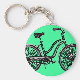 Bicicleta clásica, productos del dibujo lineal llaveros
