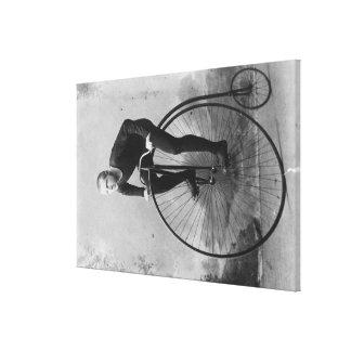 Bicicleta con la fotografía grande de la rueda del impresión en lona