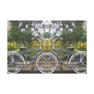 Bicicleta construida para dos lienzo envuelto para galerias
