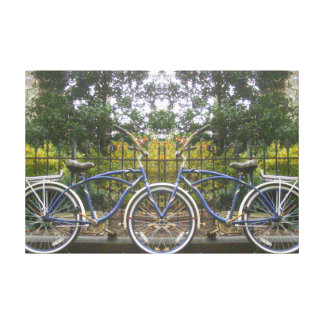 Bicicleta construida para dos lona estirada galerías