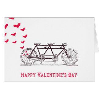Bicicleta construida para la tarjeta de dos el día