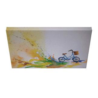 Bicicleta de la acuarela impresiones en lona estiradas