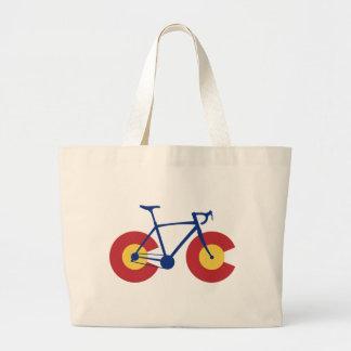 Bicicleta de la bandera de Colorado Bolso De Tela Gigante