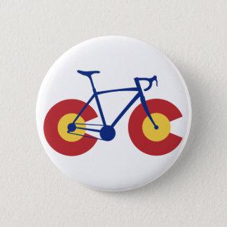 Bicicleta de la bandera de Colorado Chapa Redonda De 5 Cm