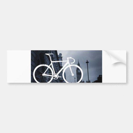 Bicicleta de la pista de Londres Etiqueta De Parachoque