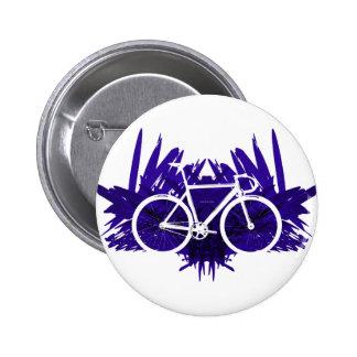 Bicicleta de la pista en violeta chapa redonda 5 cm