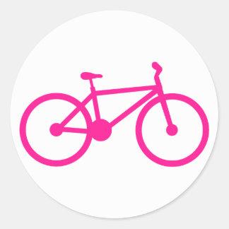 Bicicleta de las rosas fuertes; bici pegatina redonda