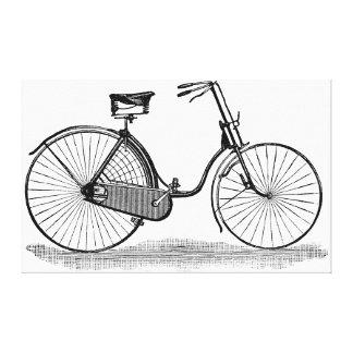 Bicicleta de las señoras del vintage impresiones en lienzo estiradas