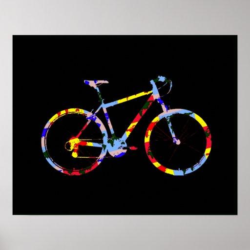 bicicleta del color - decoración biking poster