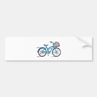 Bicicleta del lunar de la acuarela pegatina para coche