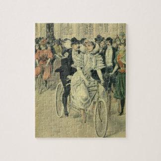 Bicicleta del tándem del paseo del novio de la puzzle