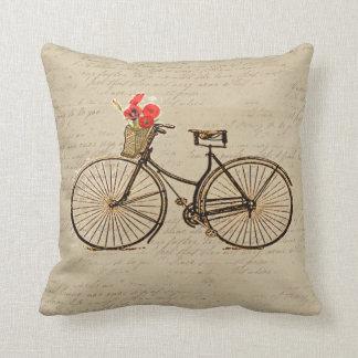 Bicicleta del vintage cojín decorativo