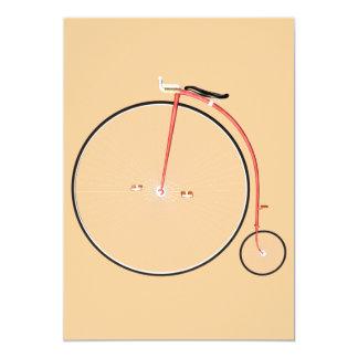 Bicicleta del vintage invitación 12,7 x 17,8 cm
