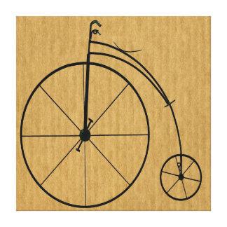 Bicicleta del vintage impresión en lona