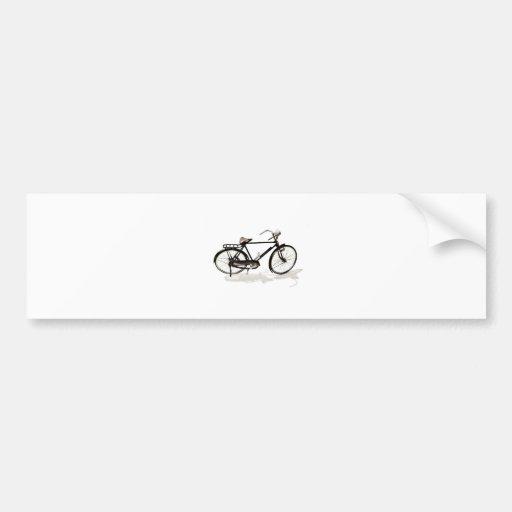 Bicicleta del vintage pegatina de parachoque