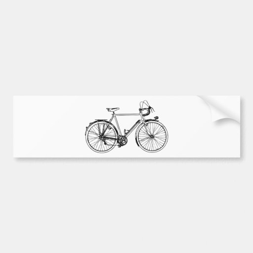 Bicicleta del vintage etiqueta de parachoque