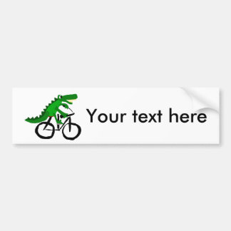 Bicicleta divertida del montar a caballo del pegatina para coche