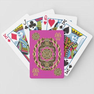 Bicicleta el jugar de tarjetas del carnaval leída barajas de cartas
