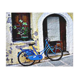Bicicleta en Creta Impresiones En Lona Estiradas