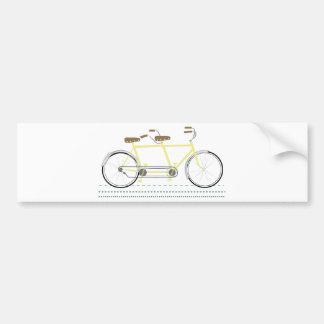 Bicicleta en tándem pegatina para coche