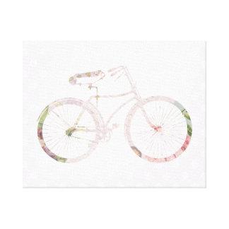 Bicicleta floral femenina impresiones de lienzo