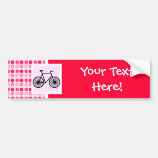 Bicicleta linda pegatina de parachoque