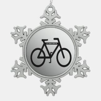 Bicicleta metálica de plata adorno