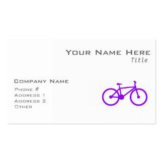 Bicicleta púrpura violeta tarjetas de visita