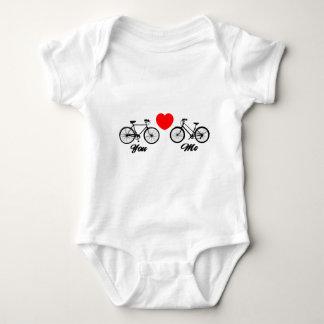 Bicicleta te amo body para bebé