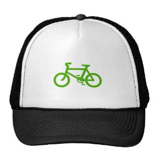 Bicicleta verde de Eco Gorros Bordados