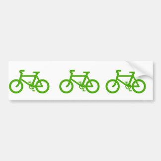 Bicicleta verde de Eco Etiqueta De Parachoque