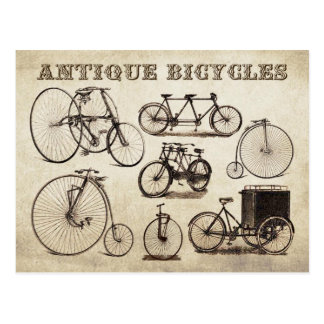Bicicletas antiguas (velocípedos) postales