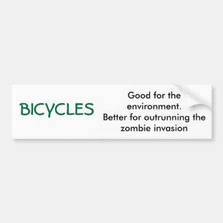 BICICLETAS, buenas para el ambiente. Mejore para o Pegatina De Parachoque