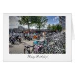 Bicicletas centrales de la estación - feliz cumple tarjetas