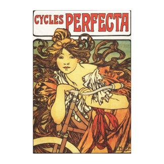 Bicicletas de Perfecta con el poste del anuncio de Impresión En Lienzo