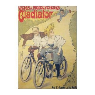 Bicicletas del gladiador de la publicidad de poste lienzo envuelto para galerias