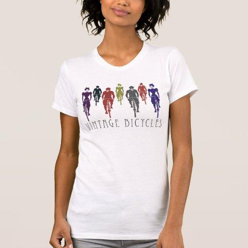 Bicicletas del vintage camiseta